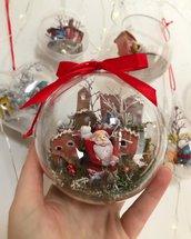 Sfera natalizia con Babbo Natale | addobbi albero