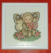 Bambino farfalla, quadro punto croce