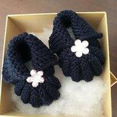 Scarpine neonata 0/3 mesi con confezione regalo personalizzata