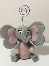 Portafoto elefantino rosa