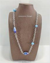 Collana creata con perle al lume Murano, pezzo unico