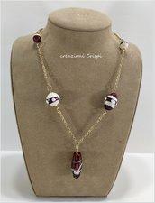 Collana perle vetro di Murano
