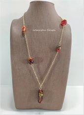 Collana perle fatte a mano vetro di Murano