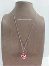 Collana con perla in vetro di Murano