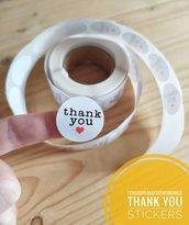 Sticker etichetta Grazie thank you 5x3cm