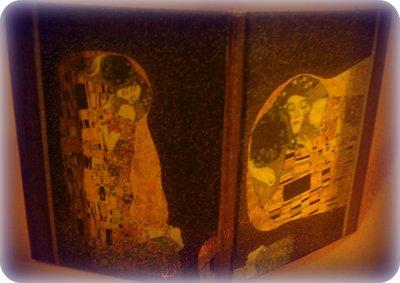 Porta foto a libro Klimt