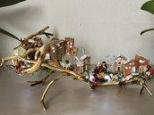 Presepe costruito nei rami | decorazione natalizia