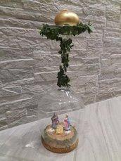 Natività calice con candela ed edera