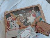 Biscotti  Natalizi decorati con ghiaccia reale componi la tua Christmas box