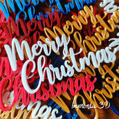 Scritte MERRY CHRISTMAS in 3D