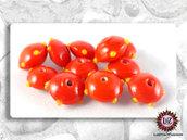 50 Perle Vetro - Disco Piatto: 15x8,5 mm - Arancione