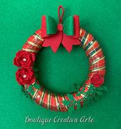 Ghirlanda di Natale in stile scozzese - addobbi Natale - fuori porta - decorazione Natale
