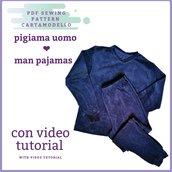 Cartamodello pdf pigiama uomo da taglia s a 3xl
