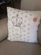 Fodera cuscino in lino e cotone