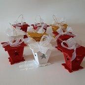 Mini lanterne natalizie, segnaposto, idea regalo, decorazioni