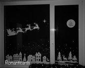 Adesivo di Natale decorativo  per finestra di 190cm x150cm