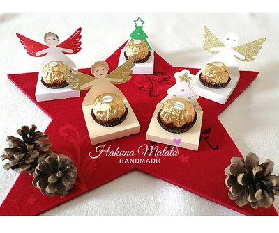 Segnaposto/gadget natalizio porta cioccolatino
