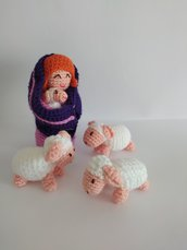 Pecorelle amigurumi per presepe