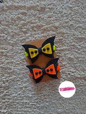 Coppia elastici per capelli con fiocco pipistrello