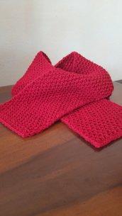Sciarpa rossa per bambina