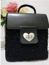 Borsa tracolla borsa in cordino borsa fatta a mano borsetta zainetto www.misshobby.com doni e bomboniere