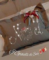 Cuscino Noël grigio