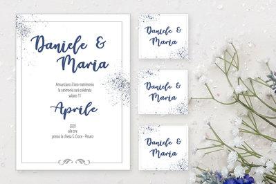 1 PARTECIPAZIONI E 7 SEVA THE DATE,  partecipazioni matrimonio, Invito Personalizzato per Matrimonio, Partecipazioni Moderne, partecipazioni ecologiche