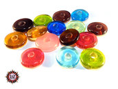 50 Perle Vetro a Rondelle : 22 mm diametro - Mix colors
