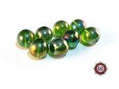 50 Perle in vetro A/B  - sfera 12 mm - Tondo - Verde