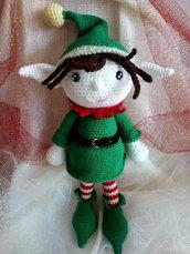 Elfo Natale amigurumi