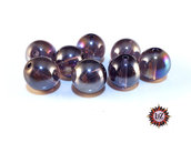 50 Perle in vetro A/B  - sfera 12 mm - Tondo - Lilla