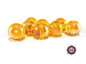 50 Perle in vetro A/B  - sfera 12 mm - Tondo - Ambrato Chiaro
