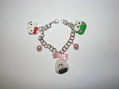 Bracciale Hello Kitty, Keroppi e Onigiri