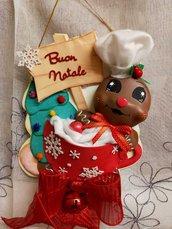 Fuoriporta natale con gingerbread