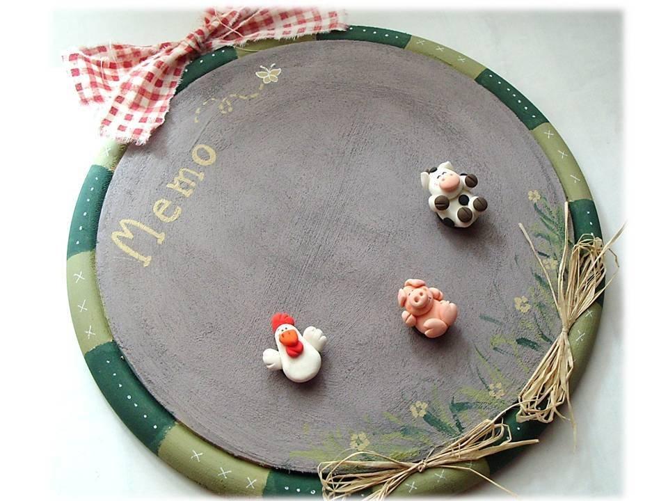 Lavagna magnetica country gallina maialino mucca per la casa e pe su misshobby - Lavagna magnetica per cucina ...