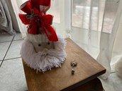 Scatola natalizia fatta a mano con ciondolo in fimo.