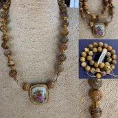 Collana Vintage in Pietra Paesina
