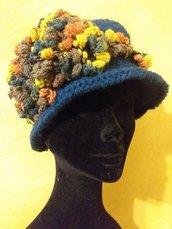 Cappello lana color ottanio
