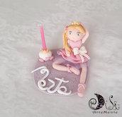 Cake topper ballerina principessa carrozza bimba personalizzabile
