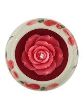 Candela Rosa Rossa, In Ceramica Rotonda Rossa, Aroma Rosa Rossa