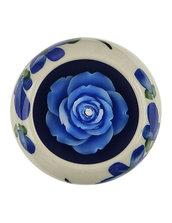 Candela Rosa Blu, In Ceramica Rotonda Blu, Aroma Ocean