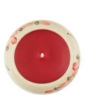 Candela Semplice, In Ceramica Rotonda Rossa, Aroma Rosa Rossa