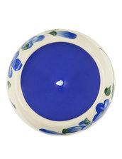 Candela Semplice, In Ceramica Rotonda Blu, Aroma Ocean