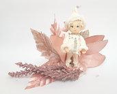 Collezione Gnomi - Natale - Gnomo bianco in porcellana fredda