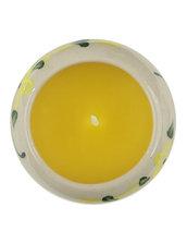 Candela Semplice, In Ceramica Rotonda Gialla, Aroma Vaniglia