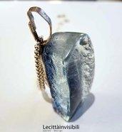 Collana Luna in argento e cristallo Pendente Luna