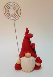 Collezione Gnomi - Gnomauguri - Natale - gnomi in porcellana fredda con augurio