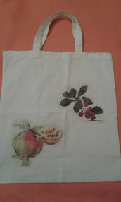 Shopper con decoupage frutta