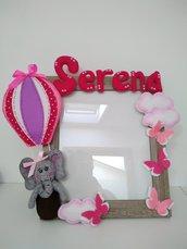 Cornice portafoto...una elefantina in mongolfiera