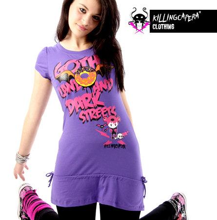 Miniabito vestito viola Killing Capera dark emo punk wonderland kawaii